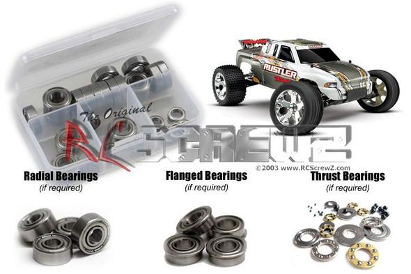 RC Screwz TRA020B Traxxas Rustler XL-5 Metal Shielded Bearings Kit