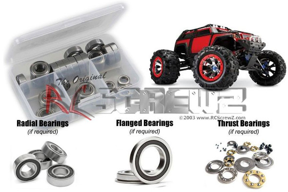 RC Screwz TRA036R Traxxas Summit Rubber Shielded Bearings Kit