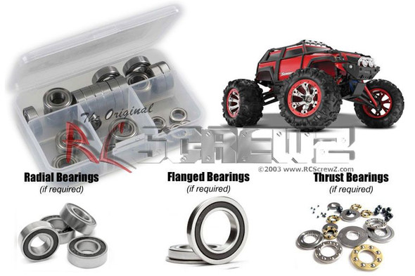 RC Screwz TRA042R Traxxas 1/16th Summit Rubber Shielded Bearings Kit