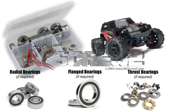 RC Screwz TRA055R Traxxas Latrax 1/18th Teton Rubber Shielded Bearings Kit
