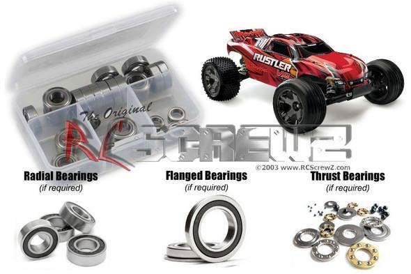 RC Screwz TRA066R Traxxas Rustler VXL TSM Rubber Shielded Bearings Kit