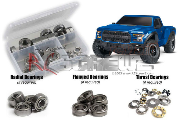 RC Screwz TRA078B Traxxas Ford Raptor 2017 Metal Shielded Bearings Kit