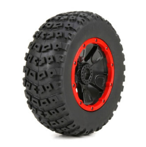 Losi LOS45004 Left & Right Tire (1ea),Premounted 1/5th 4WD Desert Buggy XL