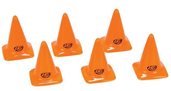 """Losi LOSB1107 Course/Track Cones Orange 2.75"""" 6pcs"""