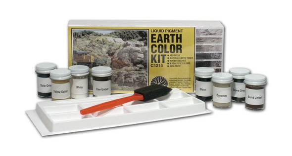 Woodland Scenics Earth Color Kit 8 Colors 1 oz C1215