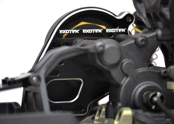 Exotek 1652  Stand Up 'flite' Motor Plate, Black : 22 4.0 / 3.0