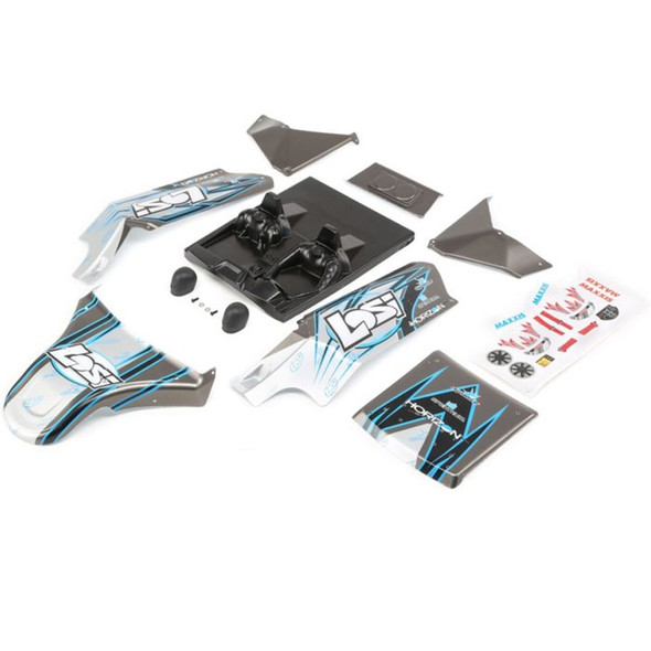 Losi LOS250017 Body Set Screened Grey : DBXL-E