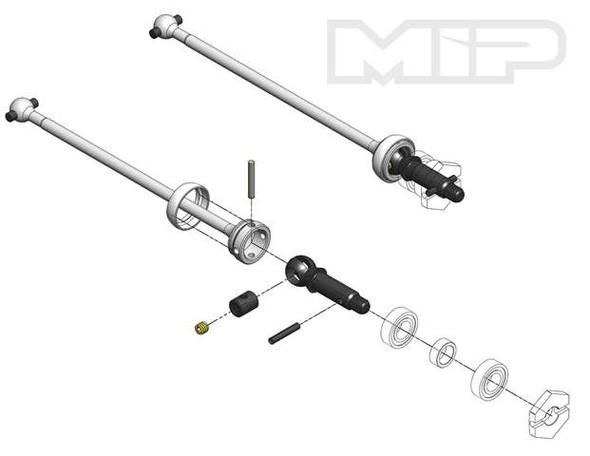 MIP 14175 Shiny C-CVD™ Kit, Front, TLR 22-4 1.0