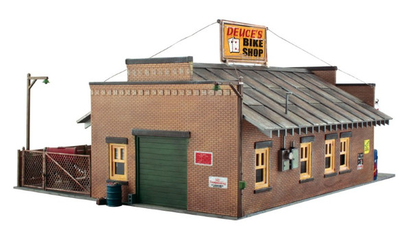 Woodland Scenics Deuce's Bike Shop O Railroad Train Building  PF5895