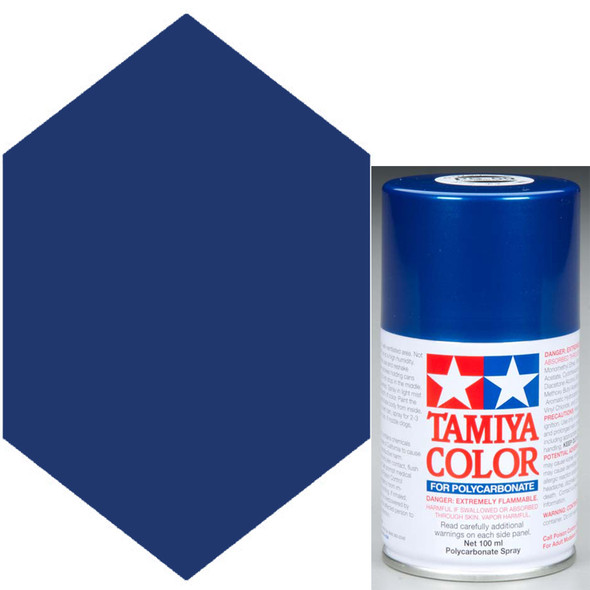 Tamiya Polycarbonate PS-59 Dark Metallic Blue Spray Paint 86059