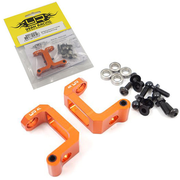 Yeah Racing RSS3-003OR Ball Bearing Aluminum C-Hub Set Orange HPI RS4 Sport 3