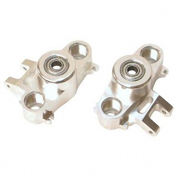 STRC CNC Aluminum HD Steering Knuckles W/ 6X15 Bearings SILVER ST5334S