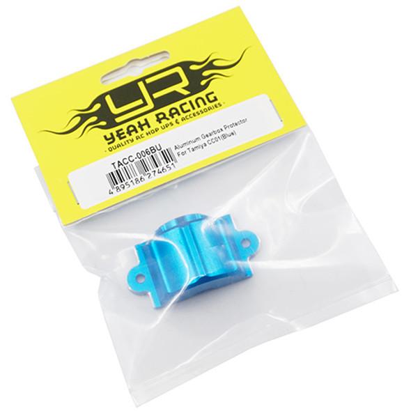 Yeah Racing TACC-006BU Aluminum Gearbox Protector : Tamiya CC01 Blue