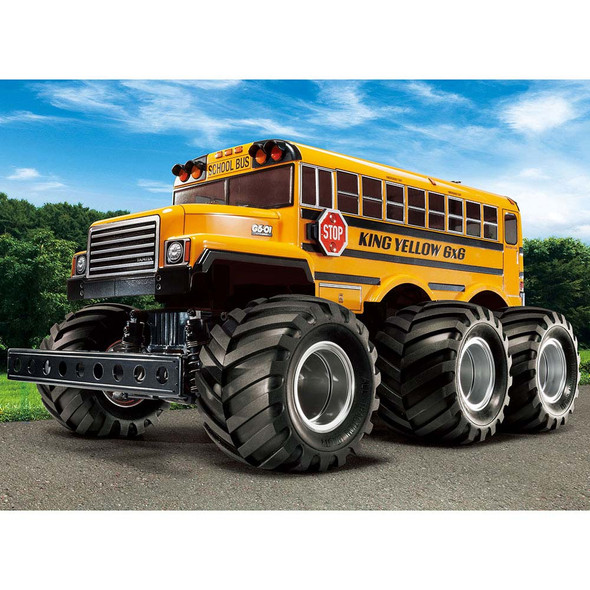 Tamiya 58653 1/18 King Yellow 6x6 GS-01 Off-Road School Bus Kit