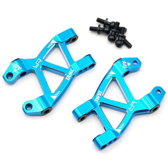 Yeah Racing TAMC-028BU Aluminum Rear Suspension Arm Set : Tamiya M07 Blue