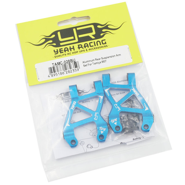 Yeah Racing TAMC-028BU Aluminum Rear Suspension Arm Set : Tamiya M07 Blue