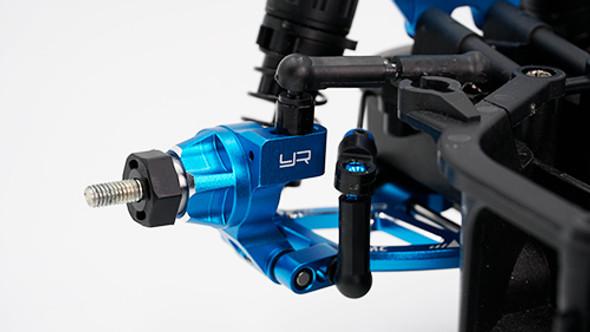 Yeah Racing TAMC-031BU Aluminum Rear Hub 3 Degrees Toe-In: Tamiya M07 Blue
