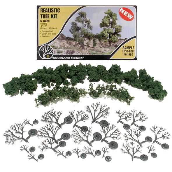 Woodland Scenics Medium Green Tree Kit 3-7in (6)