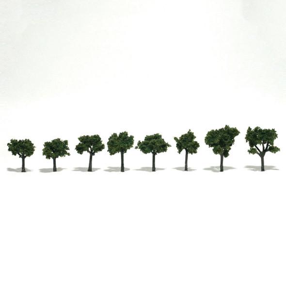 Woodland Scenics Medium Green Trees .75 -1.25in (8)