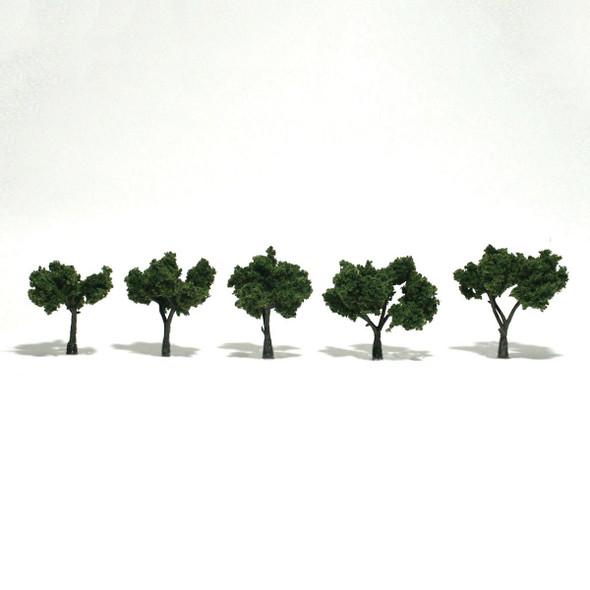 Woodland Scenics Medium Green Trees 1.25-2in (5)