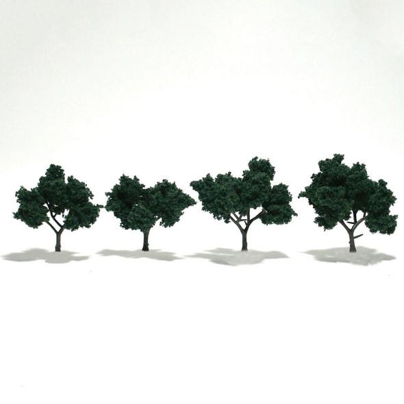 Woodland Scenics Dark Green Trees 2-3in (4)