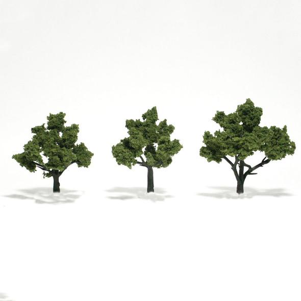 Woodland Scenics Light Green Trees 3-4in (3)