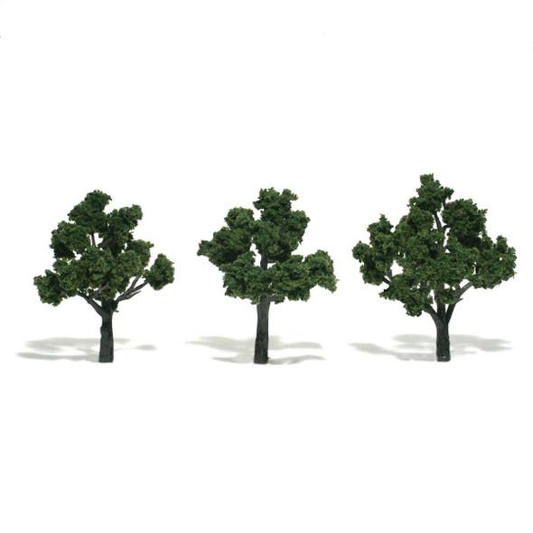 Woodland Scenics Medium Green Trees 3-4in (3)