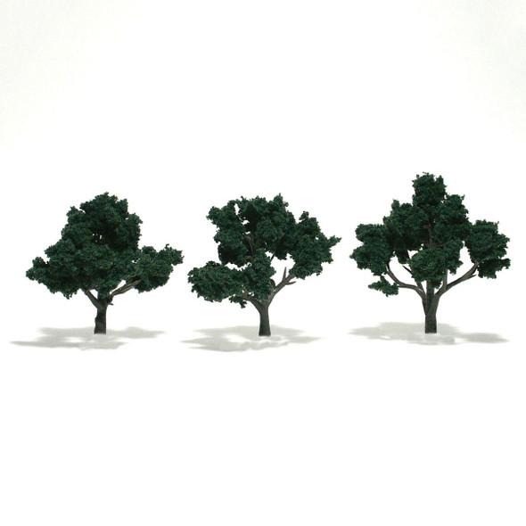 Woodland Scenics Dark Green Trees 3-4in (3)