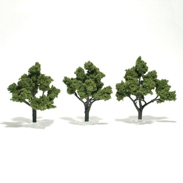 Woodland Scenics Light Green Trees 4-5in (3)