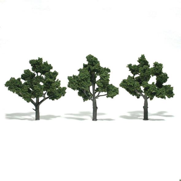 Woodland Scenics Medium Green Trees 4-5in (3)