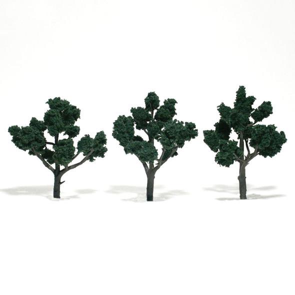 Woodland Scenics Dark Green Trees 4-5in (3)