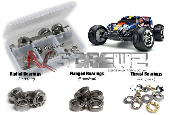 RC Screwz TRA006B Traxxas Nitro Rustler 2.5/SE Metal Shielded Bearings Kit