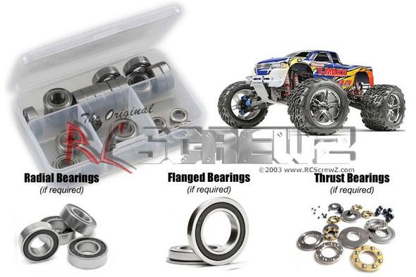 RC Screwz TRA016R Traxxas T-Maxx 3.3 Rubber Shielded Bearings Kit