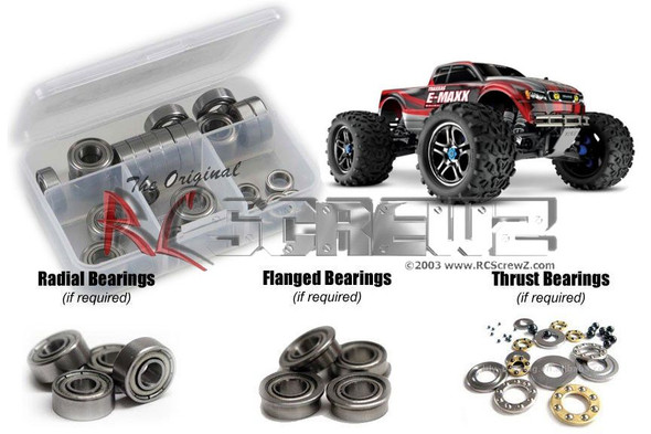 RC Screwz TRA062B Traxxas E-Maxx TSM Ed. Metal Shielded Bearings Kit