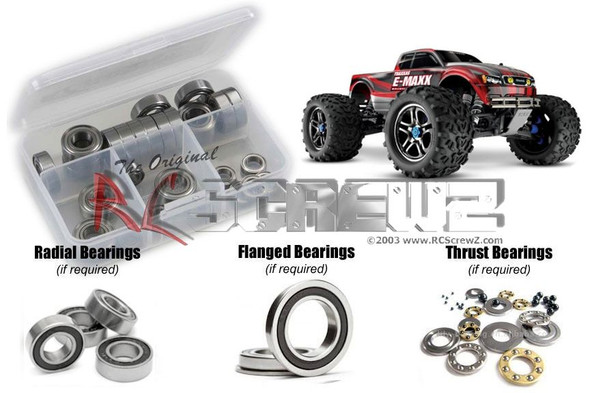 RC Screwz TRA062R Traxxas E-Maxx TSM Ed. Rubber Shielded Bearings Kit