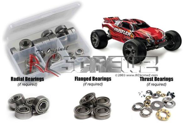 RC Screwz TRA066B Traxxas Rustler VXL TSM Metal Shielded Bearings Kit