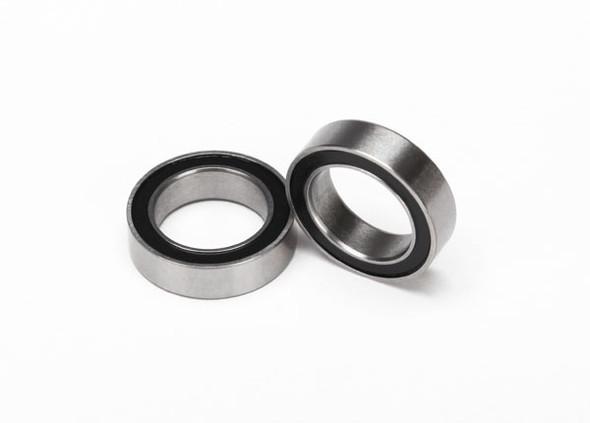 Traxxas 5119A Ball bearings black rubber sealed (10x15x4mm) (2) : TRX-4 / Slash 4X4