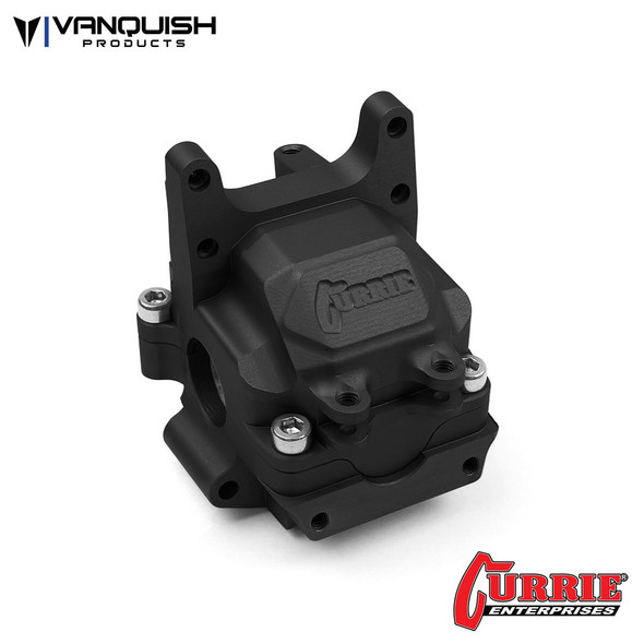 Vanquish VPS07900 Currie F9 Front Aluminum Bulkhead Black Anodized : Axial Yeti