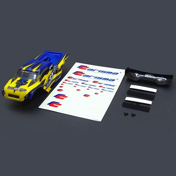 Carisma 15687 GT24TR Painted and Decorated Truggy Body (Yellow / Blue)