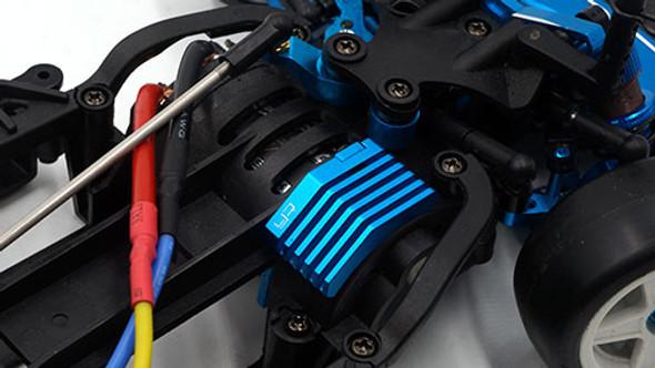 Yeah Racing Aluminum Steering & Suspension Upgrade Conversion Kit : Tamiya M07 Blue