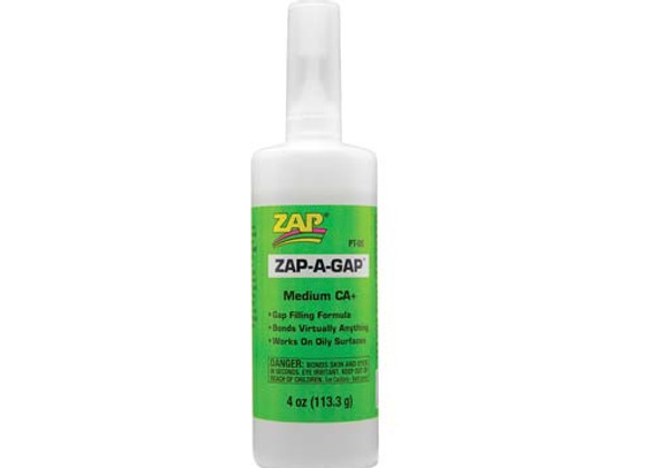 Pacer Zap Adhesives Zap-A-Gap CA+ Glue Medium 4 oz PT05