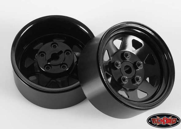 RC4WD 5 Lug Wagon 1.9 Steel Stamped Beadlock Wheels Black 4pcs 1/10 Sawback