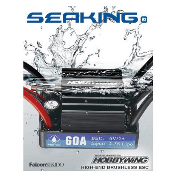 Hobbywing Seaking 60A V3.1 Waterproof Brushless Esc / Boat Speed Control