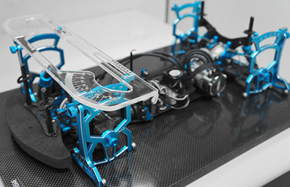 Yeah Racing YT-0140BU Universal Set Up System Ver.2 Blue For 1/10 On Road Car