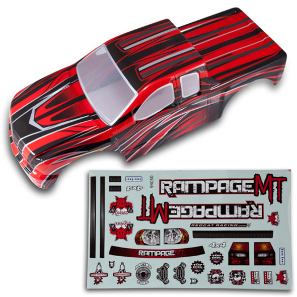 Redcat 50912 1/5 Truck Body Red w/ Black & Silver Accents: Rampage MT / Rampage XT