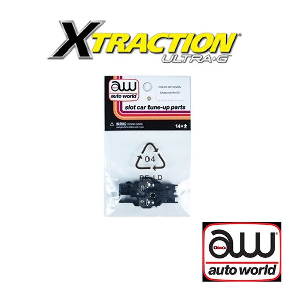 Auto World Xtraction Chassis Ultra G Frame Only (1) Pk : 1:64 / HO Scale Slot Car
