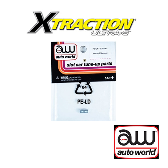 Auto World Xtraction Ultra-G Magnet (6) Pack: 1:64 / HO Scale Slot Car