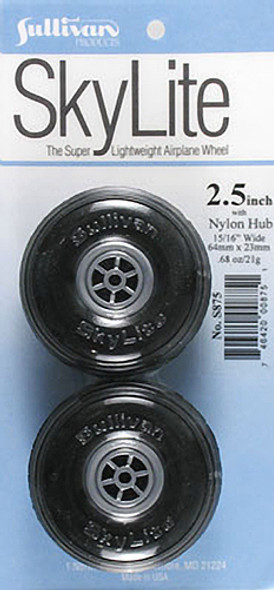 "Sullivan S875 SkyLite Wheels 2-1/2"" (2) Airplane"