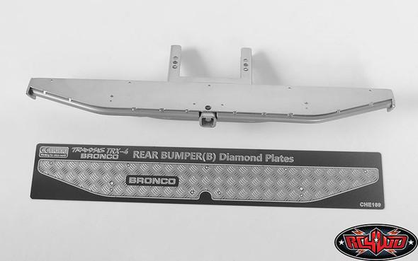 RC4WD KS Rear Bumper Silver : Traxxas TRX-4 '79 Bronco Ranger XLT VVV-C0509
