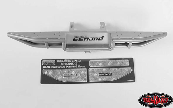 RC4WD Ranch Rear Step Bumper Silver: TRX-4 '79 Bronco Ranger XLT VVV-C0511